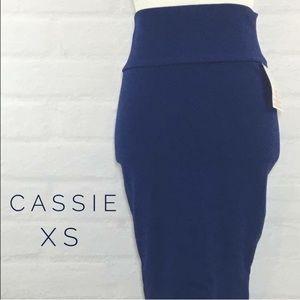 NWOT Navy Blue LuLaRoe Cassie Skirt